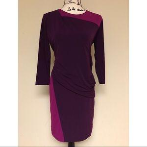 DKNY Draped Waist Dress